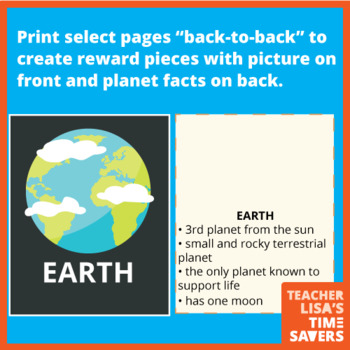 Online Classroom Planets Space Reward - With Facts - VIPKID