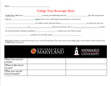 Online College Scavenger Hunt with Guided Notes