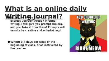 Online Daily Writing Journal