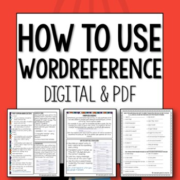 How to use spanish online dictionary wordreference tpt how to use spanish online dictionary wordreference negle Gallery