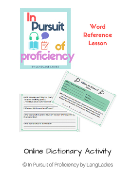 Online Dictionary Lesson