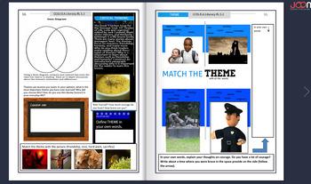 Online Digital Interactive Magazine/PDF Common Core Reading 1-1 Google Classroom
