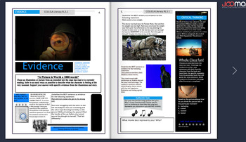 Online Digital Interactive Magazine/PDF Common Core Readin