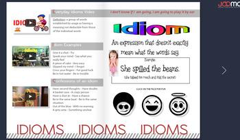 Online Digital Interactive Magazine & PDF Figurative Language - Google Classroom