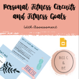 Online Digital Personal Fitness Goals & Circuit Gym/ Physical Education Unit