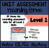 Online ESL Assessment Recording Form (VIPKID Level 1 - PreVIP)