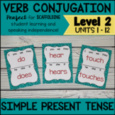 Online ESL Simple Present Tense Verb Conjugation Charts (VIPKID Level 2)