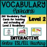 Online ESL Vocabulary Flashcards (VipKid Level 2) INTERACTIVE