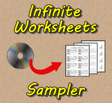 Infinite Worksheets: Sampler (Math Worksheet Generator Software)