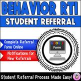 Online Electronic Behavior RTI Student Referral (Google Form)