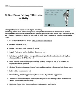Online Essay Editing & Revision Activity