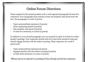 Online Forum Directions