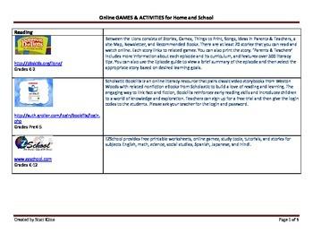 Online Games & Activities for Students