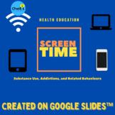 Online Health - Excessive Screen Time on Google Slides™