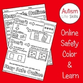 Online Internet Safety Color and Learn Activities SPED Autism