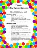 Online Ladder- 7th Grade Solving Algebraic Expressions
