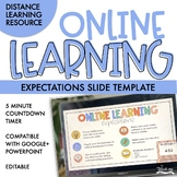 Online Learning Expectations Slide Template