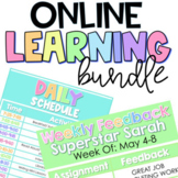 Distance Learning Bundle: Daily, Weekly Schedule Templates