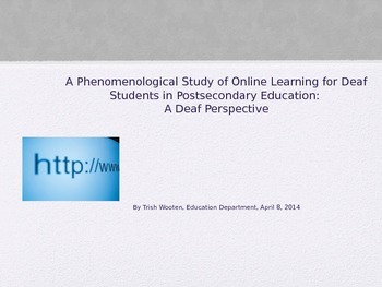Online Learning for Deaf Students in Postsecondary Educati