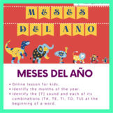 Online Lesson: Los meses del año/Months of the Year in Spanish