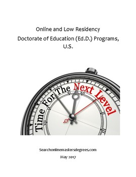Online & Low Residency Doctorate of Education Programs in the U.S.