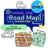 Online Map Work Using a Compass Rose on Google Slides™