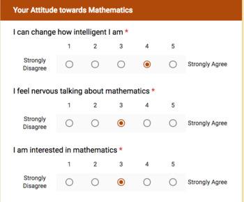 Math Attitudes and Mindset Survey