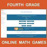Online Math Games for Fourth Grade - Shareable Website with 80+ Links