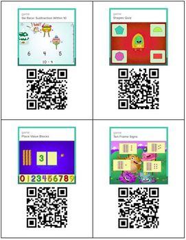 Online Math Games with QR Codes