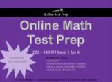 Online Math Test Prep for RIT Band 221 - 230 Set A