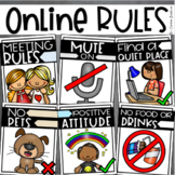 Online Meeting Virtual Distance Learning Zoom Classroom Rules Visual Posters