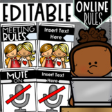 Online Meeting Virtual Distance Learning Zoom Rules Visual