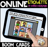 Online Meetings Behaviour Expectations BOOM CARDS- DISTANCE LEARNING