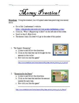 Online Money Practice