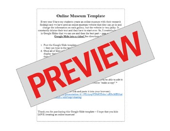 online museum template google slides by el aya teaches english