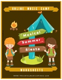 Online Musical Summer Siesta Camp Workbook