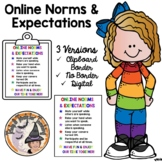 Online Norms and Expectations Poster Sign + DIGITAL for Di