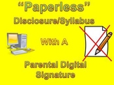 Online Paperless Disclosure / Syllabus with a Parental Dig