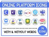 Online Platform Buttons - Website Google Sites Canvas Dist