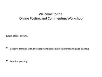 Online Posting Workshop