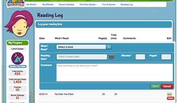 Bookopolis Online Reading Log