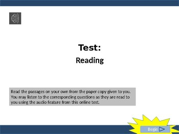 STAAR Online Reading Test