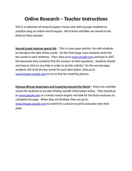 Online Research Projects for Younger Students