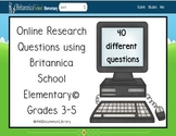 Online Research Questions for Grades 3-5