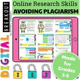 Online Research Skills Digital Breakout: Avoiding Plagiarism