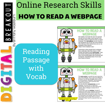 Online Research Skills Digital Breakout: How to Read a Webpage