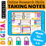 Online Research Skills Digital Breakout: Taking Notes