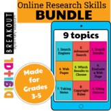 Online Research Skills Digital Breakouts BUNDLE