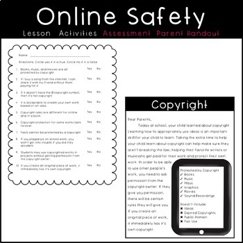 Online Safety Copyright Lesson Plan