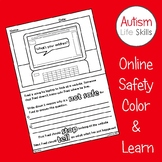 Online Safety Internet Safety Color and Learn Worksheet Ac
